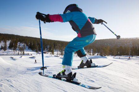 Sälenin Tandådalen-hiihtoalueen loistavassa parkissa on sopivia bokseja joka tasoiselle hyppijälle.
