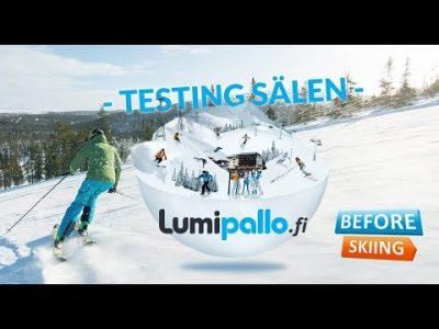 Lumipallon testiryhmä koeajaa Sälenin hiihtolomalla 2019