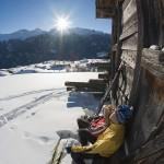 Serfaus hiihtäjä tauolla