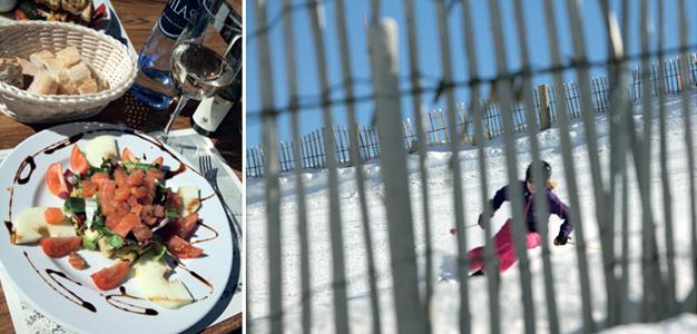Ravintola Pessonin salaatti ja tunnelma ovat oivallisia - El Tarterin rinteillä oli tilaa kurvailla