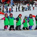 Hassela lapset hiihtokoulu laskettelu