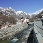 Monte Rosa Gressoney joki kylä