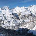 Zermatt kylä laakso