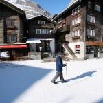 Zermatt kylä katu