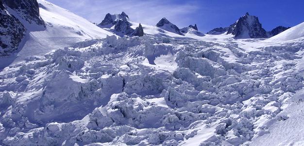 Chamonix'n 22km Vallee Blanche vaatii jäätikkötaitoja
