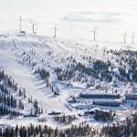 Olos hiihtokeskus ilmakuva Lapland hotels