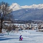Innsbruck alppikyla maisema