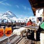 Innsbruck rinneravintola terassi after ski