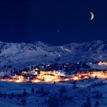 Obertauern hiihtokylä ilta