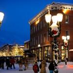 Aspen Snowmass hiihtokylä ilta
