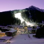 Madonna di Campiglio rinteet hiihtokeskus valaistu
