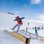 Paradiski les arcs la plagne snow park lumilautailu