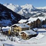 Sainte Foy hiihtoalue terassi after ski hiihtokeskus