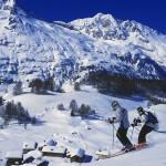 Sainte Foy laskettelu alppimaisema hiihtokylä