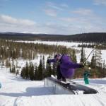 Salla parkki snow park lumilautailu laskettelu