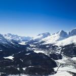 St. Moritz laakso maisema alppimaisema