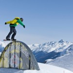 St. Moritz snow park lumilauta temppu trick
