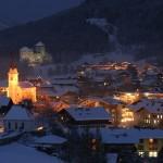Zell am See hiihtokylä ilta