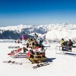 Les 2 Alpes piknik pöydät