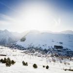 Les 2 Alpes kylä laakso