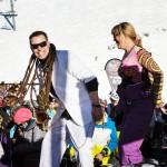 Les 2 Alpes rinneravintola le Pano saksofonisti tanssi