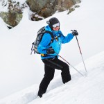 Les 2 Alpes off pisteet laskija