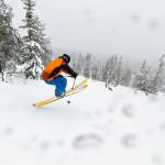 Olos telemark off-piste skier
