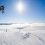 Pallas hiihtokeskus rinteet maisema