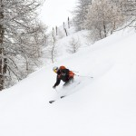 Sestriere Italia skiing area powder