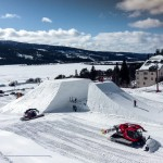 Åre snow park hyppyri lumilautailu