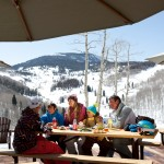 Beaver Creek rinneravintola perhe after ski
