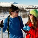 Geilo hiihtokeskus laskettelu hiihtäjät