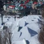 Mont Tremblant parkki hyppyri lumilautailu