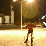 Seefeld hiihtokeskus laskettelukeskus maastohiihto ilta valaistu