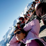 Sierre-anniviers rinneravintola after ski terassi