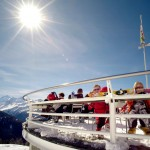 Sierre-anniviers rinneravintola terassi after ski alpit