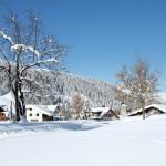 Arosa Lenzerheide hiihtokylä alppimaisema