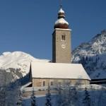 Lech Zürs alppikylä kirkko