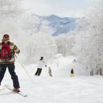 Hakuba Cortina skiers