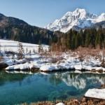 Kranjska Gora talvi maisema