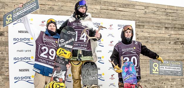 Suomen ensimmäinen 5-tähden slopestyle-kilpailu IS Open kisattiin Iso-Syötteellä 2.–5.4.2014.