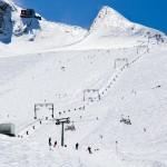 Kaprun Kitzsteinhorn jäätikkö rinteet