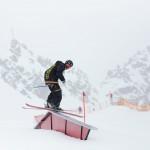 pitztal snowpark skier rail