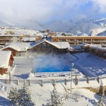 alpe d'huez village outside pool