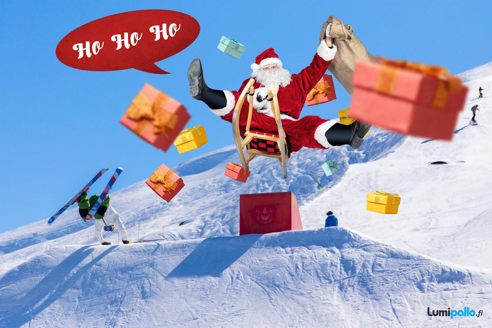 Ho, Ho, Ho, karjaisee pukki pulkkamäessä!