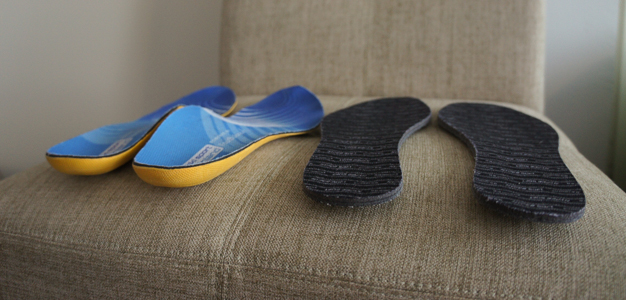 """FootBalancen Quick Fit –pohjalliset ja maastohiihtomonojen vakiopohjalliset  – ero on huomattava. Valmistajan mukaan """"Ski Sport ... 9497dfbe0b"""