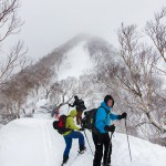 myoko ikenotaira off piste ski touring route