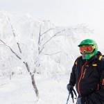 nozawa onsen skier mt kenashi