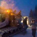 saalbach spielberghaus snow cat arrival