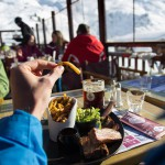 3 valleys meribel slope restaurant terrace le plan des mains
